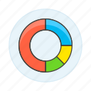 analytics, business, chart, graph, ring icon