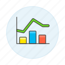 analytics, bar, business, chart, graph, line icon