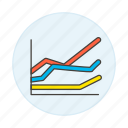 analytics, business, chart, graph, line icon