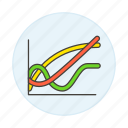 1, analytics, business, chart, graph, line icon