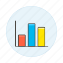 analytics, bar, business, chart, graph, vertical icon