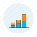 analytics, bar, business, chart, graph, stack, vertical icon