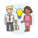 business, buying, commerce, deal, funding, idea, ideas, selling, trade icon