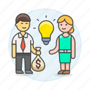1, business, buying, commerce, deal, funding, idea, ideas, selling, trade icon