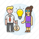business, idea, funding, selling, trade, deal, ideas, commerce, buying icon