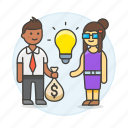 idea, funding, trade, business, commerce, selling, buying, ideas, deal icon