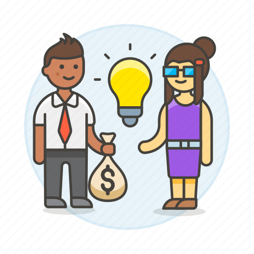 3, business, buying, commerce, deal, funding, idea, ideas, selling, trade icon