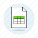 business, data, entry, excel, registry, spreadsheet, table, xls icon