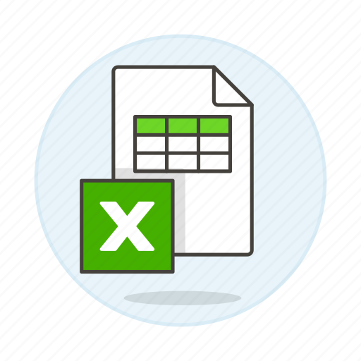 1, business, data, entry, excel, file, microsoft, registry, spreadsheet, table, xls icon
