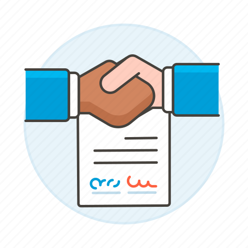 1, agreement, associate, business, contract, contracts, deals, deed, doc, document, handshake, paper, sign icon
