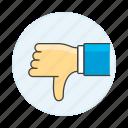 ban, business, decline, denial, disagree, dislike, dissent, down, failures, no, thumb
