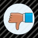 dissent, disagree, failures, down, no, dislike, ban, thumb, denial, business, decline