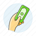 business, cash, contracts, deals, dollar, hand, hold, money, payment icon