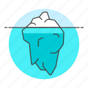 business, glacier, hidden, iceberg, potential, strategy, surface icon