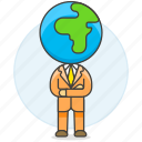 arm, business, crossed, global, man, people, world icon