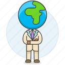 global, man, arm, crossed, people, business, world icon