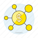 affiliate, business, connect, distribution, finance, global, metaphors, money, network icon