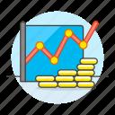 business, chart, economic, graph, growth, line, metaphors, money icon