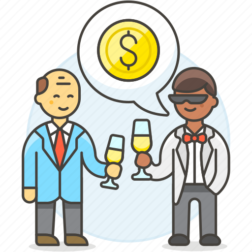 1, agreement, benefit, business, celebration, chat, deal, invest, investment, man, meetings, party icon