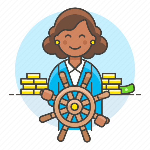 admin, boss, business, captain, chief, control, leader, leadership, management, strategy, woman icon
