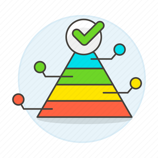 analytics, business, chart, graph, hierarchy, maslow, needs, progressive, pyramid, structure icon