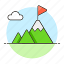business, challenge, goal, mountain, peak, strategy icon
