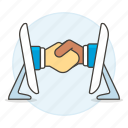 agreement, business, contracts, deal, deals, digital, executive, hand, online, shake icon