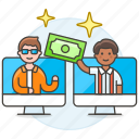 agreement, business, commerce, contract, contracts, deals, man, money, online, payment, transfer icon