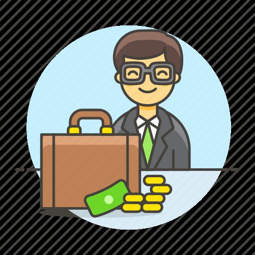 2, adviser, briefcase, business, cash, consultant, deal, male, man, money, people, sale, sales icon