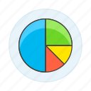 analytics, business, chart, graph, pie icon