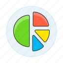 1, analytics, business, chart, graph, pie icon