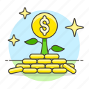 business, growth, investment, metaphors, money, plant, wealth icon
