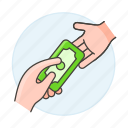 business, cash, contracts, deals, deposit, money, payment, purchase, receive icon