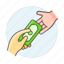 1, business, cash, contracts, deals, deposit, money, payment, purchase, receive icon