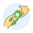 2, business, cash, contracts, deals, deposit, money, payment, purchase, receive icon