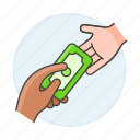 money, contracts, deals, business, cash, deposit, receive, payment, purchase icon