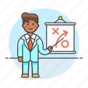 1, business, businessman, man, path, plan, presentation, report, strategy, tactic icon