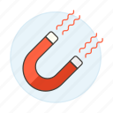 attract, business, get, investment, magnet, pull, strategy icon