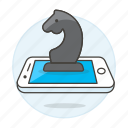 business, chess, mobile, phone, smartphone, strategy, tactic icon