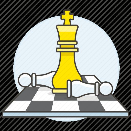 board, business, chess, strategy, success, tactic, triumph, win icon