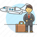 1, business, flight, foreign, investment, man, meetings, migration, seminar, travel, trip icon