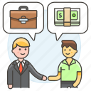 1, agreement, business, contract, deal, man, meetings, purchase, sell, work icon