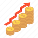 business growth, earnings, financial growth, money increase, profit, revenue increase, yield icon
