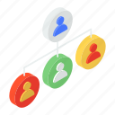 association, hierarchy, organization, team group, team structure, user network icon