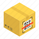 box, cardboard, courier package, package, paper box, parcel icon