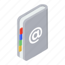 address book, contacts, contacts book, phone book, phone directory icon