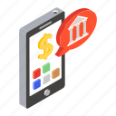 banking application, internet banking, mobile banking, mobile payment, phone banking icon