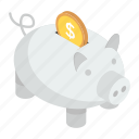 cash box, money savings, penny bank, piggy bank, piggy moneybox icon