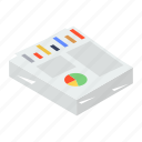 business documents, business file, corporate documents, graphic data, infographic file icon