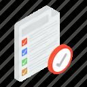 checklist, delivery list, inventory, list, order list, tasklist, todo list icon